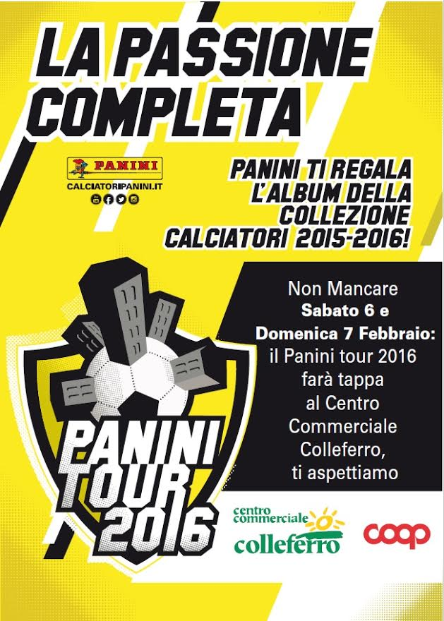 Panini Tour 2016 Centro Commerciale Colleferro